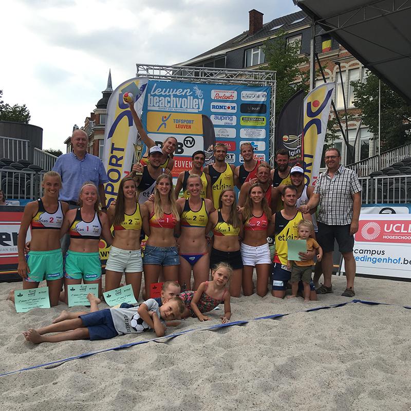 Podium Belgian Beach Tour Leuven 2018